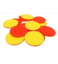 Two-colour tokens (red &...